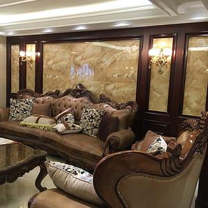 【实景图】皇家花园美式风格客厅