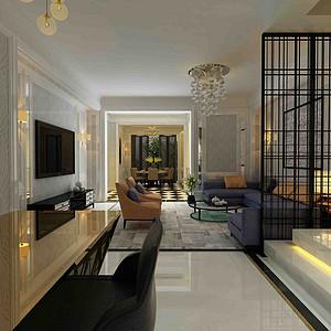 重庆美利山450㎡简欧风格别墅装修,整个家都不一样了