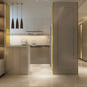 港式轻奢风格厨房装修设计