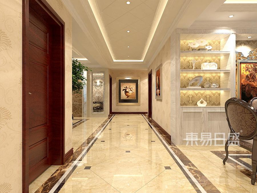 东方花园-欧式风格-走廊装修效果图