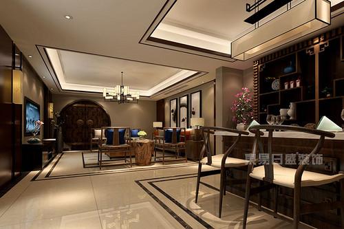 庆隆南山高尔夫352平米新中式风格别墅装修效果图