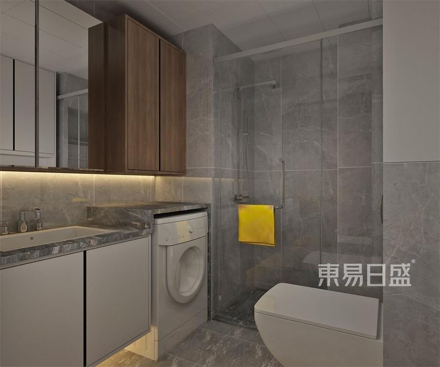 二居室-现代简约-卫生间-效果图