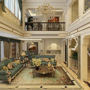 法式风格-客厅-装修效果图