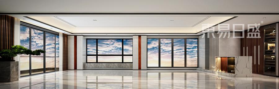 新天鹅堡-新中式风格设计案例-客厅装修效果图