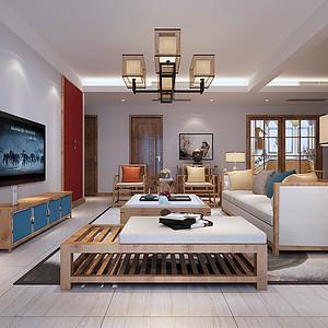 永和春天现代中式风格131平米设计