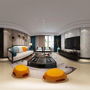 扬子华都 新中式 客厅