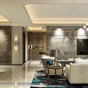 湖城大镜八号地 轻奢装修效果图 四室两厅三卫 245平米
