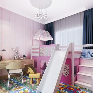 西水东现代风格儿童房装修效果图