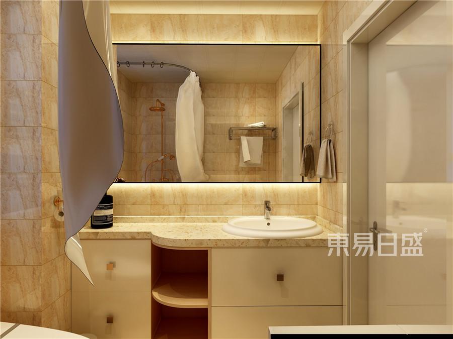 二居室-现代简约-卫生间效果图