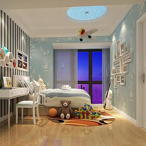 北欧儿童房装修效果图 北欧儿童房装修图片 北欧儿童房装修效果图大