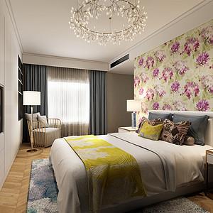 远洋山水 现代简约 卧室装饰
