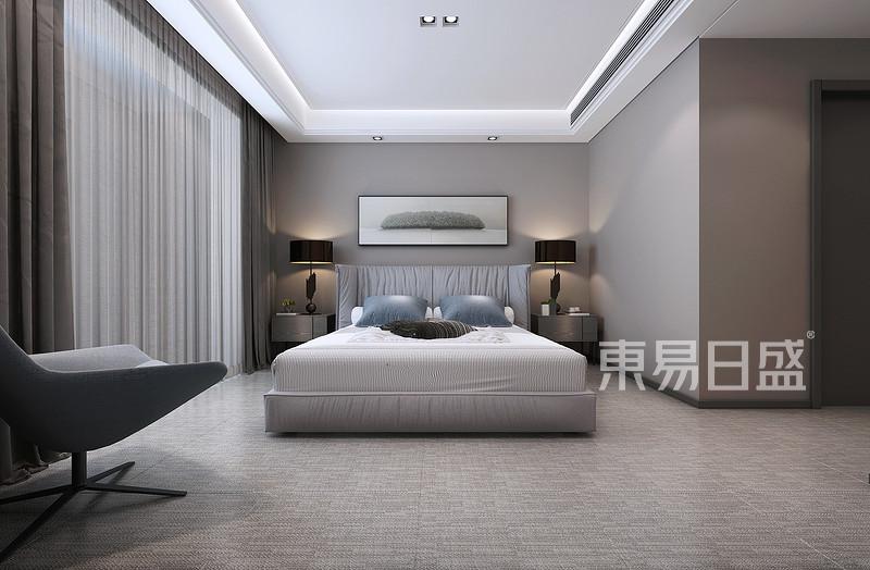 现代简约 - 富力津门湖现代极简风格卧室装修效果图