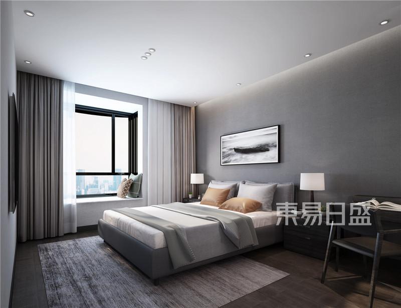 270㎡现代简约卧室装修样板间