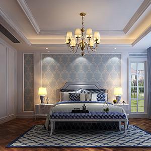 南山花园简欧500㎡卧室装修效果图