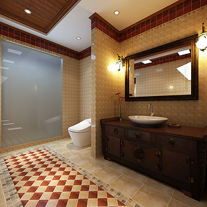 新中式-卫生间