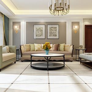 林荫大院260平四室二厅美式风格装修案例