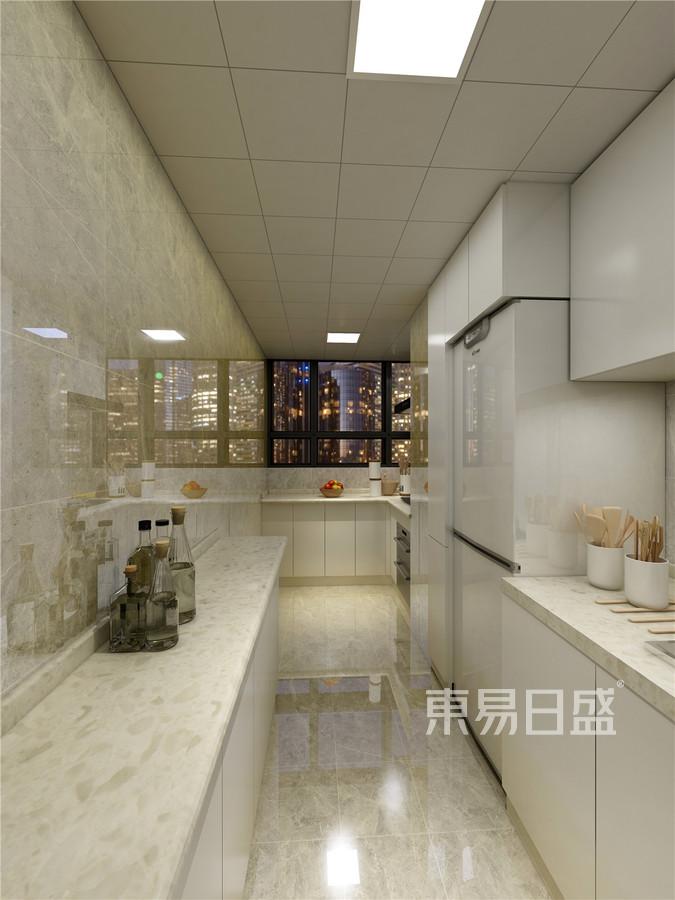 三居室-新中式-厨房效果图