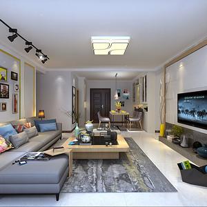 绿景虹湾 现代风格 89平米 户型设计