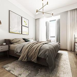 大朗碧桂园三房北欧风卧室装修效果图