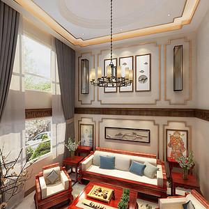 中海康城170平米新中式风格装修效果图