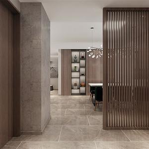 三居室-现代极简-入户门厅-效果图