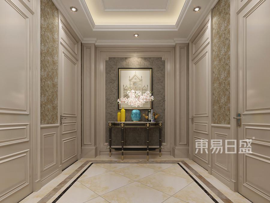 美式新古典风格玄关装修设计