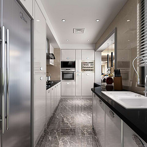 现代轻奢风格厨房装修效果图-第5页 天津现代前卫厨房装饰效果图 天