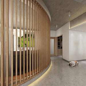90㎡LOFT户型北欧风格客厅走廊