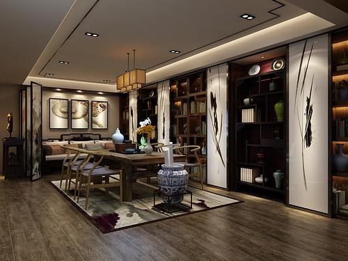 中国第一城-新中式风格-230平米