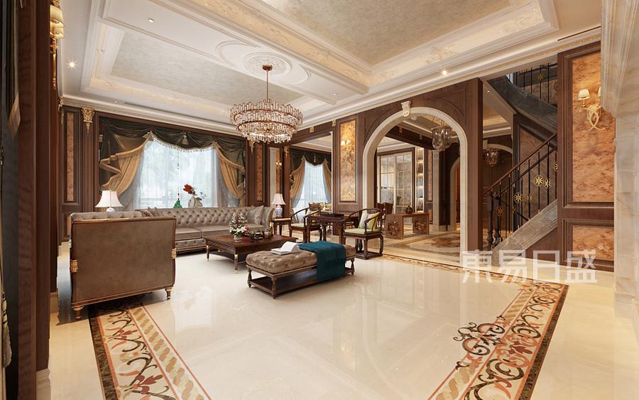 法式混搭風格客廳裝修設計