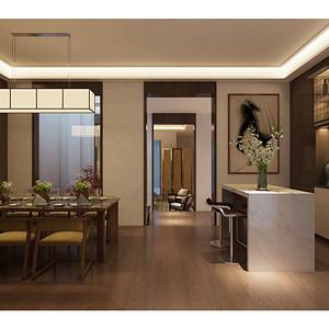 华高新苑-新中式-350平米-餐厅