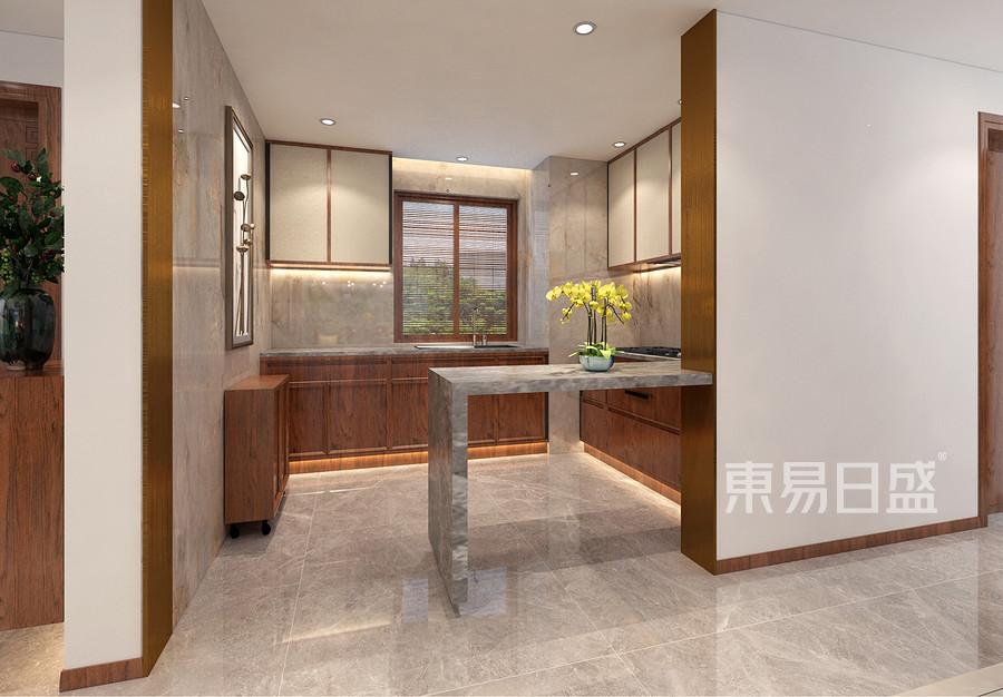 半山半岛中式风格110平米厨房装修效果图