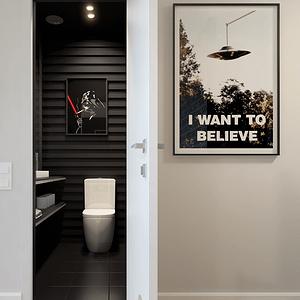 现代工业复古混搭-卫生间