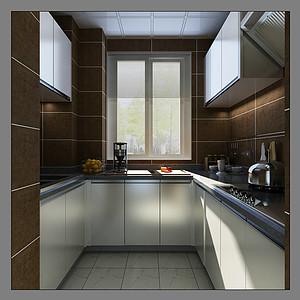 美式风格-厨房-装修效果图