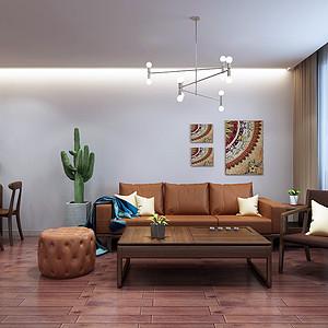 保利拉菲-三室两厅-现代前卫装修风格