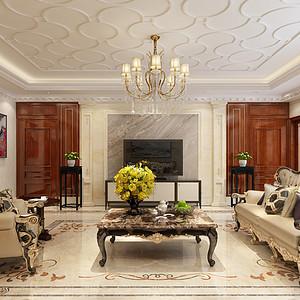 天山九峯210平四室二厅欧式古典风格装修案例