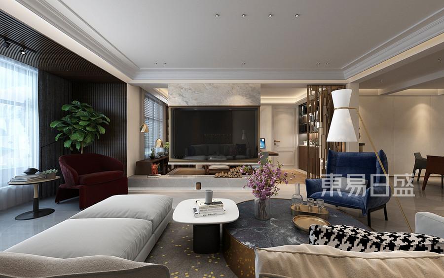 现代自然风格客厅装修设计