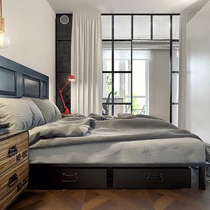 现代工业复古混搭-卧室