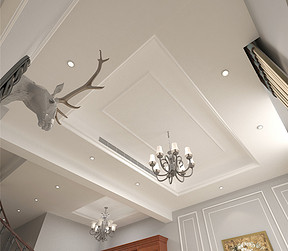 佳兆业简美风格客厅装修效果图