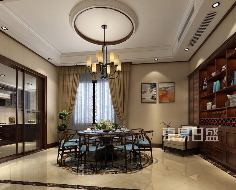 首页 室内装修效果图 > 自建房别墅-新中式-餐厅