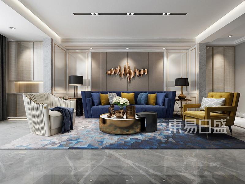 现代简约 - 客厅沙发背景墙白色烤漆护墙板图片