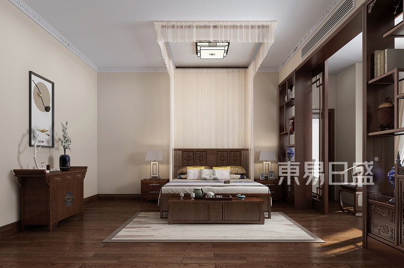 佛山480㎡中式风格独栋别墅卧室
