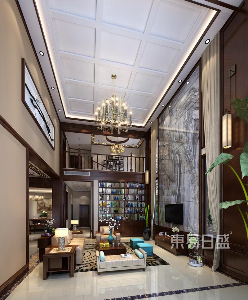 首页 室内装修效果图 > 自建房别墅-新中式-客厅