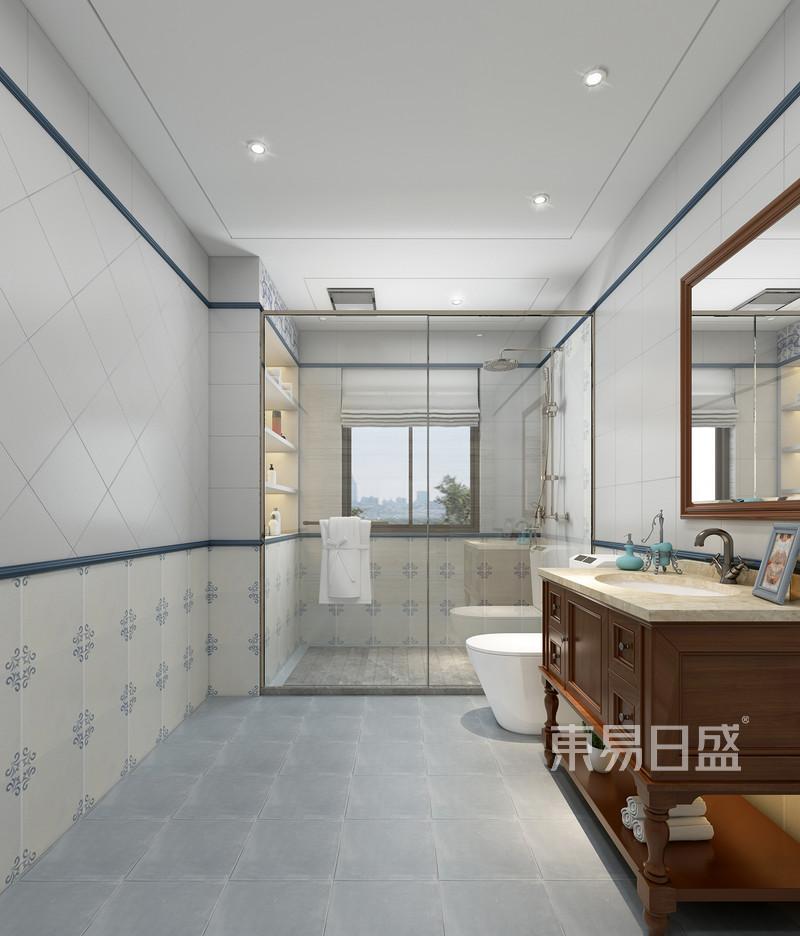 佛山480㎡中式风格独栋别墅卫生间