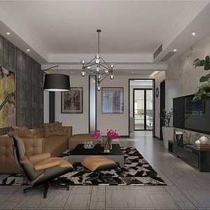 金屋秦皇半岛现代风格客厅装修效果图