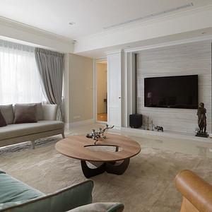 富华家园-美式装修风格-128平米