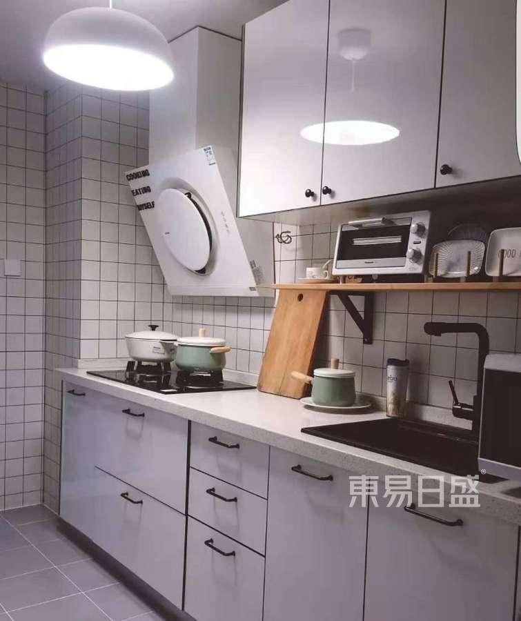 53㎡两居室北欧风格卧室厨房效果图