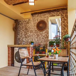美式乡村阳台充满波西米亚风情