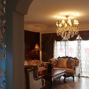 中城丽景香山美式乡村风格客厅及阳台