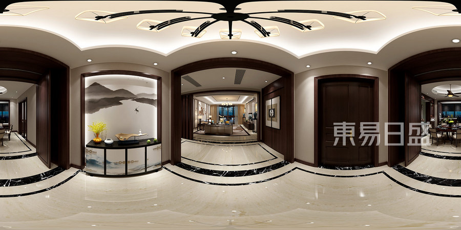 新中式全景装修效果图